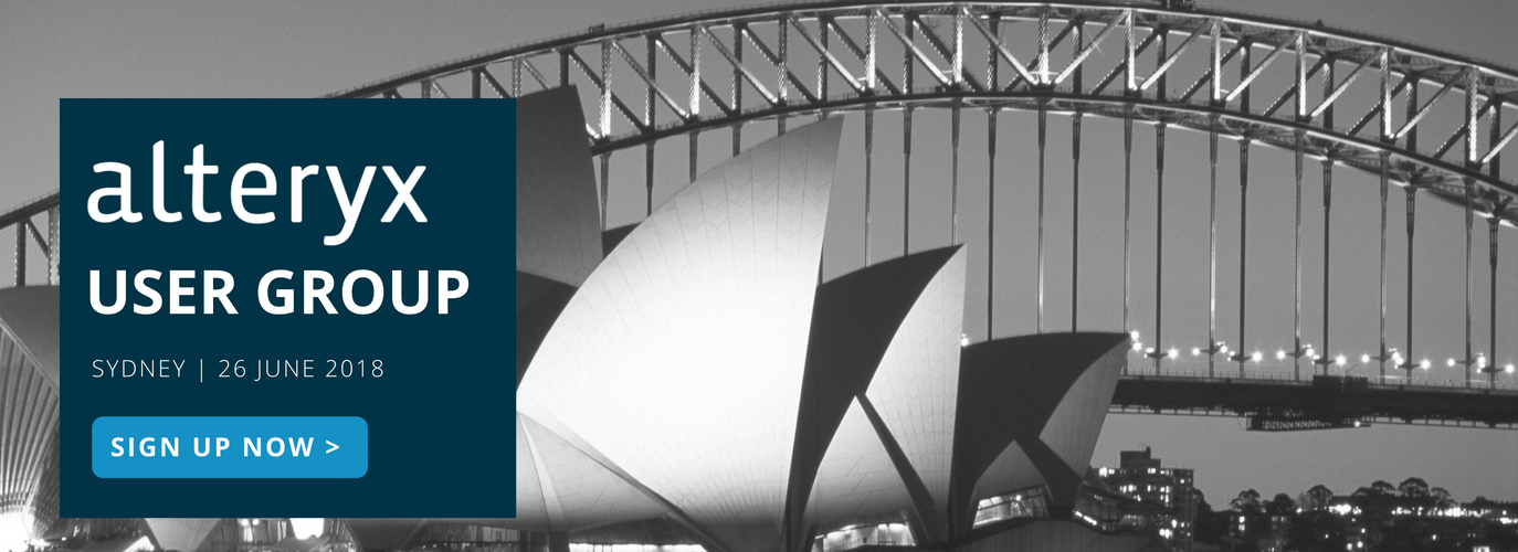 Alteryx User Group Sydney